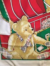 BURBERRYS Tuch carre foulard scarf Seide silk soie Made in Italy VINTAGE BEARS