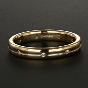 UK-Hallmarked-18ct-Gold-3mm-Diamond-Wedding-Band-Size-L-RRP-499-99-KL14