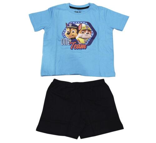 Licensed Paw Patrol Boys Short Pyjamas Pjs Shorties Age 12 Months-6 Years Summer