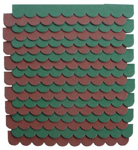 0,8qm,2-Sets,Mini-Dachschindeln Weinrot,Pappe,Vogelvilla-Haus,Carport,Sandkasten