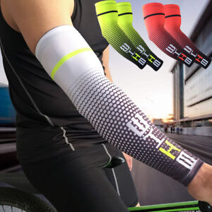 1-Pair-Cycling-Bike-Bicycle-Arm-Warmers-Silk-Sleeve-Cover-UV-Sun-Protection