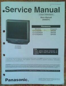 panasonic service manual ct 27g24a color television color w foldout rh ebay com Panasonic Owner's Manual Panasonic Blu-ray Disc Player Manual