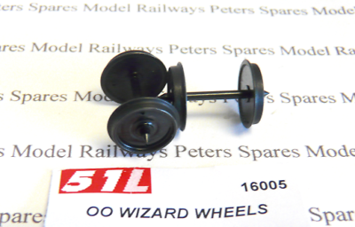 OO Gauge x2 Axles 51L 16004 14mm Maunsell Wheels