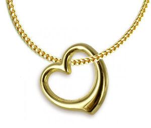 6cdaa6f50111 Das Bild wird geladen ECHT-GOLD-Herz-Anhaenger-Kette-GOLD-DOUBLE-Herzkette-