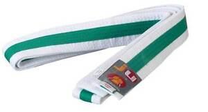 Ju-Sports Budo-Gürtel weiß/grün/weiß  Karate, Judo, Ju-Jutsu, Taekwondo
