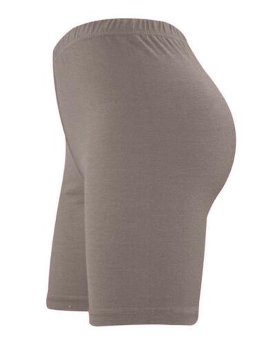 LADIES WOMEN CYCLING STRETCHY COTTON LYCRA SHORT ACTIVE LEGGINGS CASUAL SPORT