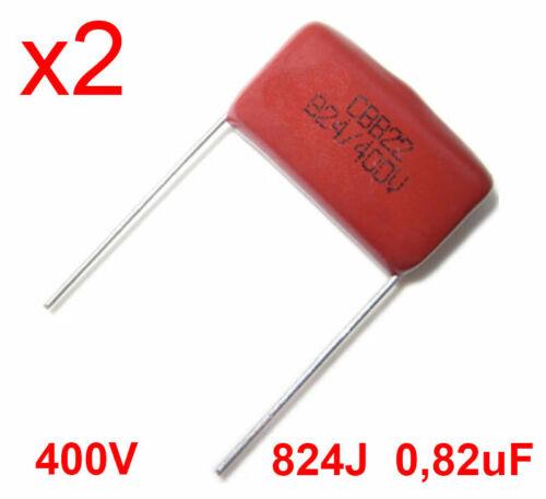 2 Pieces-Italy X2 Polypropylene Capacitor 400v 824j 0,82uf