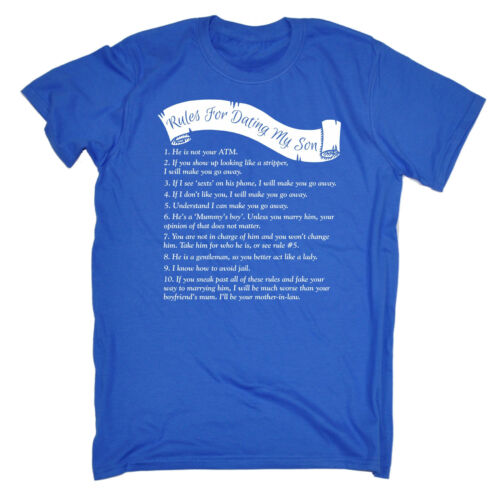 Rules For Dating My Son T-SHIRT Father Humor Dad Mum Mother birthday funny gift