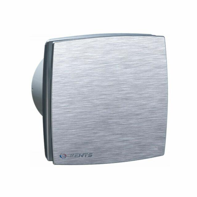 Feuchtesensor Bad-L/üfter Ventilator Wandl/üfter 100 125 150 VENTS LD-TH //LDA-TH Nachlauf Edelstahl, /Ø 100 Timer
