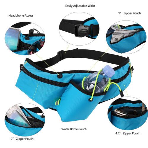 Sport Running Jogging Hiking Belt Waist Pack Fanny Pouch Water Bottle Holder Bag