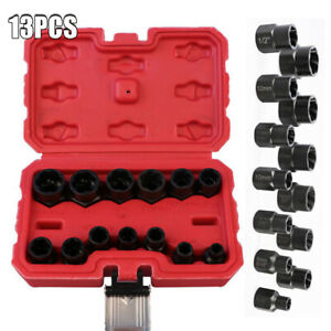 13PCS-Bolt-Nut-Extractor-Set-Remover-Damaged-Rusted-Socket-Impact-Wrench-Tool