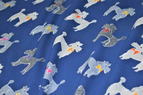 Dogs Print Design Printed Jersey Cotton Stretch Fabrics 148 cm wide,3 Colours