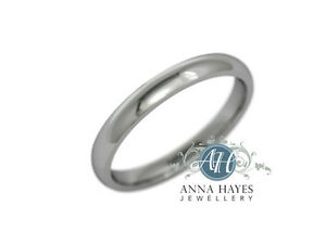 2-5mm-9ct-White-Gold-Court-Ring-New-handmade-Genuine-RRP-149-2-6-grams