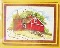 Vintage Jiffy Stitchery Crewel Kit Summer Barn 5 X 7 781