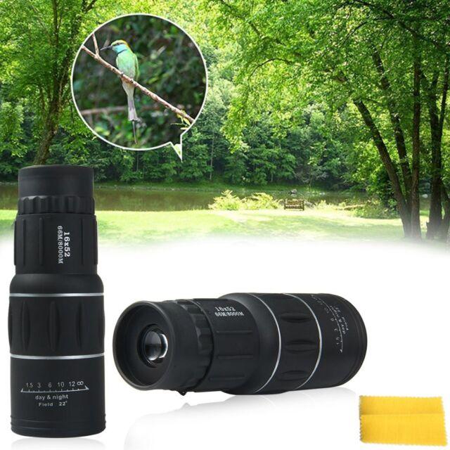 NEW 16x52 Night Vision HD Optical Monocular Hunting Camping Hiking Telescope GA
