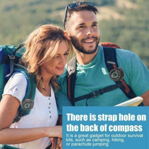 Mini Bracelet Montre Bouton Boussole Survie Outdoor Randonnée Camping Accessoires U9U1