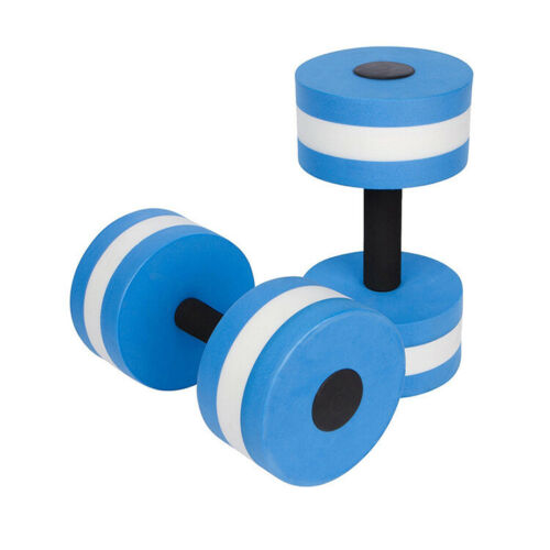 Aquatic Exercise Fitness Barbells Foam Dumbbells Hand Bars Pool Training 1 Pair