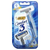 Bic Comfort 3 Shavers For Men Sensitive Skin 4 Each (pack Of 9) on sale