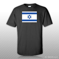 Israeli Flag T-shirt Tee Shirt Free Sticker Of Jewish Jew Pro Israel