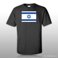 Israeli Flag T-shirt Tee Shirt Free Sticker Of Jewish Jew Pro Israel