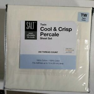 Bed Bath Beyond 200 Thread Count Cotton Percale Twin Sheet Set