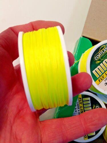 Cortland Micron 30 lb test 100 yard Spool HI-Vis Yellow Green Fly Line Backing