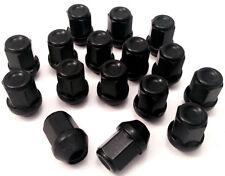 16 X 19mm hexagonal, M12 X 1.5 Tuercas de Rueda de Coche Lugs Pernos En Negro Para Ford Focus
