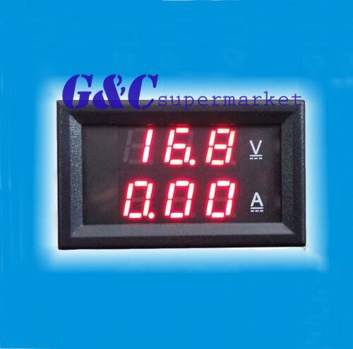 New DC 0-100V 100A Dual LED Digital Voltmeter Ammeter Voltage AMP Power M24