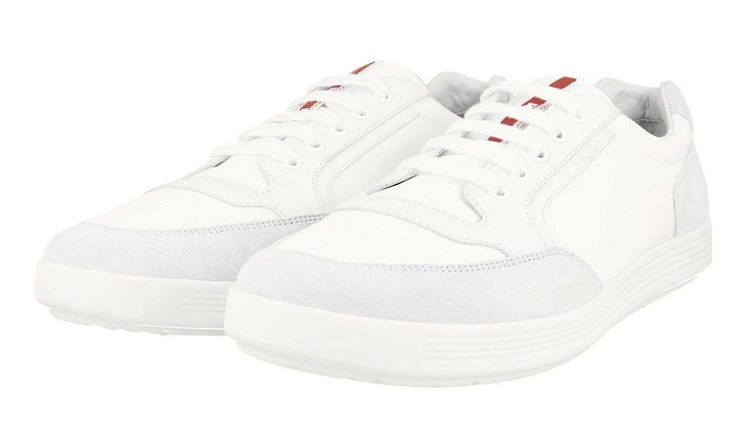 AUTHENTIC LUXURY PRADA SNEAKERS SHOES 4E2841 WHITE GREY NEW 11 45 45,5