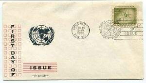 1958 First Day Issue United Nations New York Space Nasa Usa