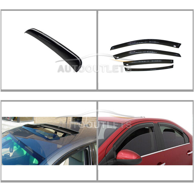 4X Vent Shade Window Visors + 1 Sunroof For 2004-2008