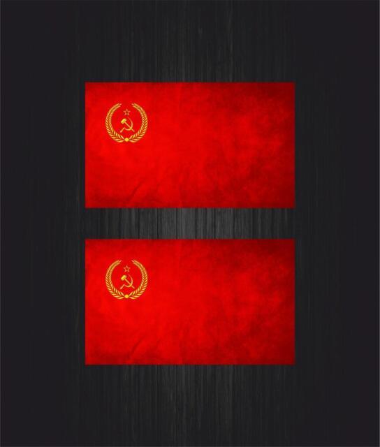 2x Sticker ussr cccp sssr urss russia soviet union flag decal emblem russian car