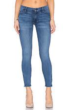 BLACK ORCHID Amber Zipper Moto Skinny Jeans Light Distress Blue 27 $170 #197