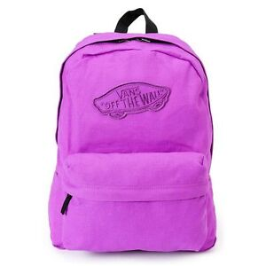 de9ad9bb7a Image is loading Vans-REALM-Neon-Purple-Multi-Pocket-Discounted-Backpack