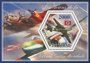 Soigneux Tchad Avion Seconde Guerre Mondiale Transport Me 262a-2a Souvenir Sheet Comme Neuf Nh-afficher Le Titre D'origine