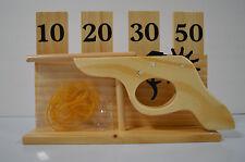 Rubber Band Shooter Gun With Wooden Target  NIB