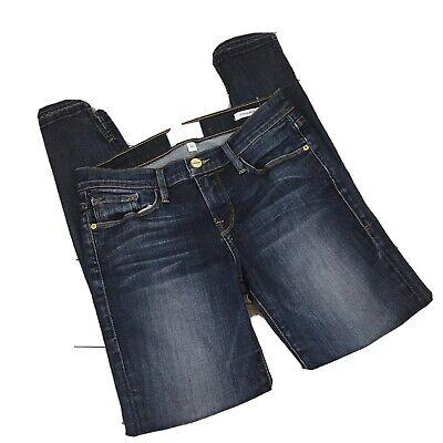 NWT FRAME Le Skinny de Jeanne  LSJDR208  Tiered Raw Hem Whittier Size 24
