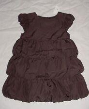 NWT Baby GAP Girls PORTOBELLO Brown Tiered Bubble Dress 18-24 M