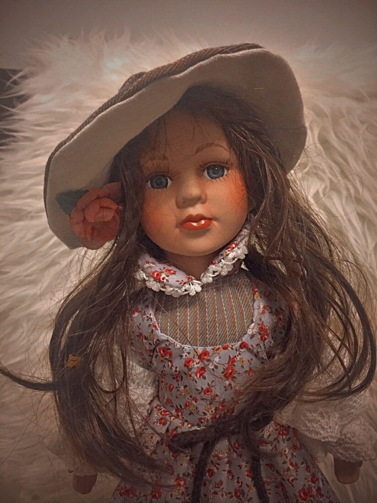Details about vintage doll porcelain European doll 40 CM