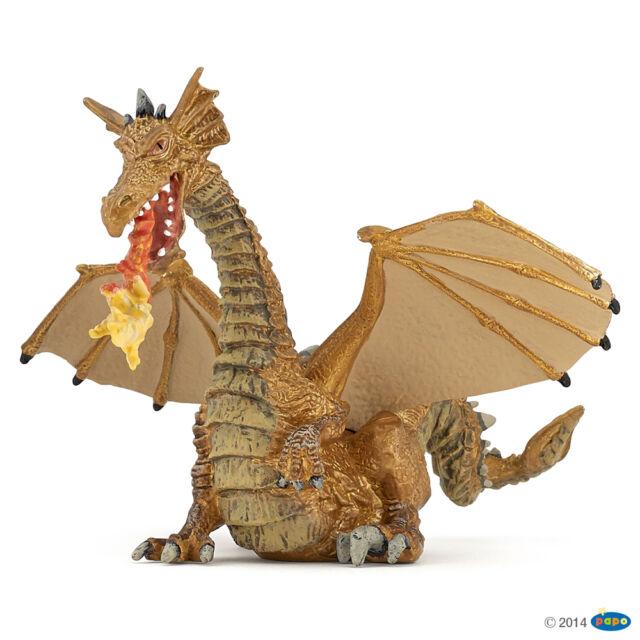 Feuerspeiender Dragon Golden 13 cm Fantasy Papo 39095