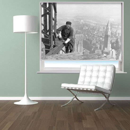 Travailleur sur les gratte-ciel en ny imprimé photo fenêtre store store fenêtre sur mesure a12ca7