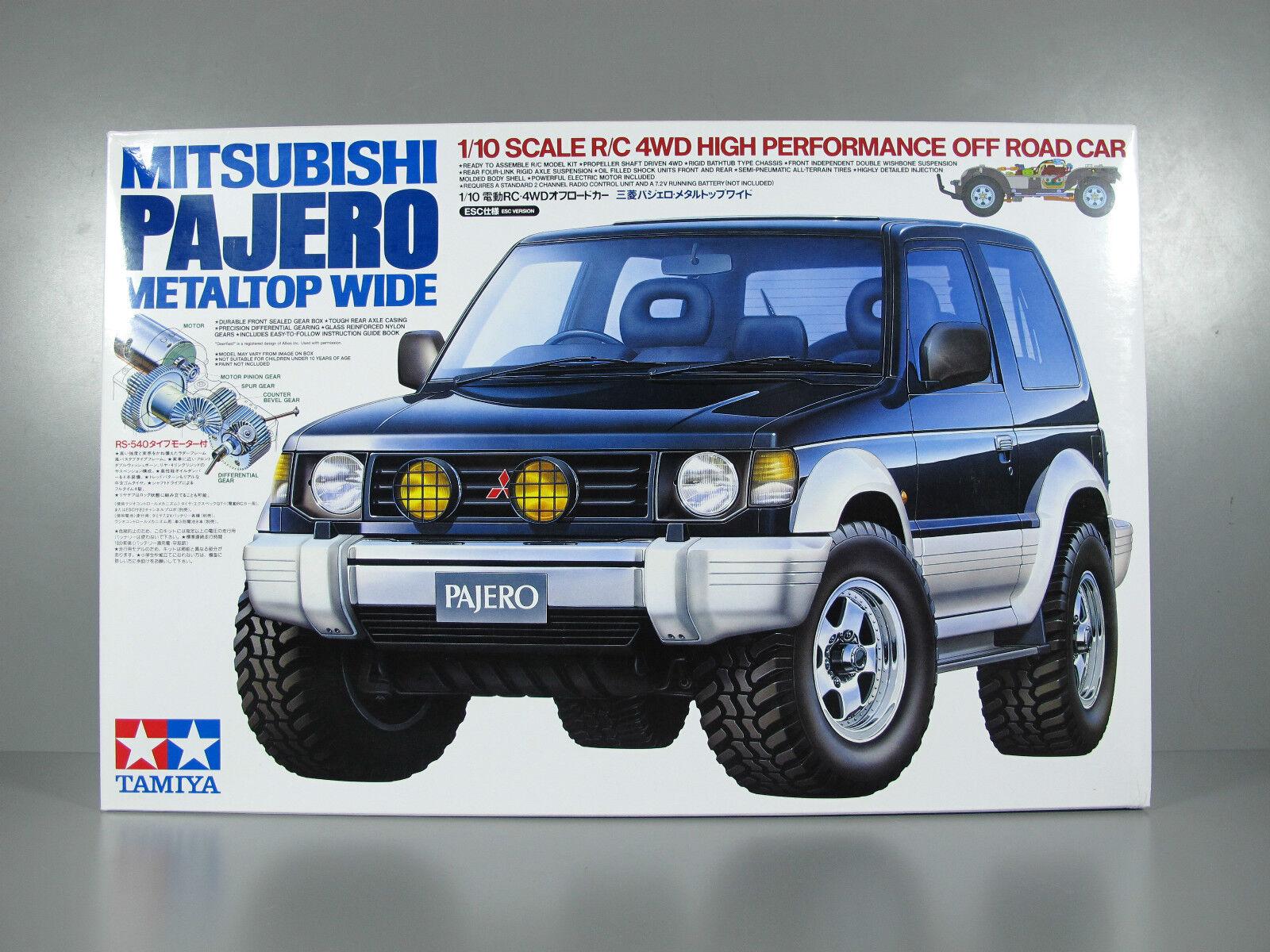 Vintage New in Open Box Tamiya RC 1 10 Mitsubishi Pajero MetalTop Wide 4WD CC-01