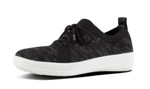 e0ffb2d7b34277 Fitflop F-Sporty Uberknit Lace-up Sneakers Black Women s sizes 5-11 ...