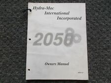 Hydra Mac 2050 Skid Steer Loader Factory Owner Operator Manual 8000 101