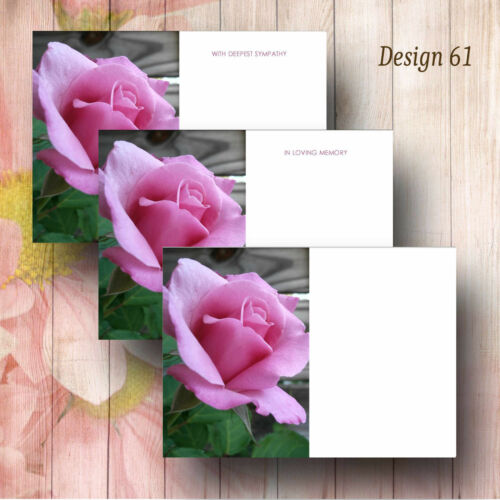 Large Funeral Floristry Message Cards With Florist Details Pk of 9 Designs 33-63