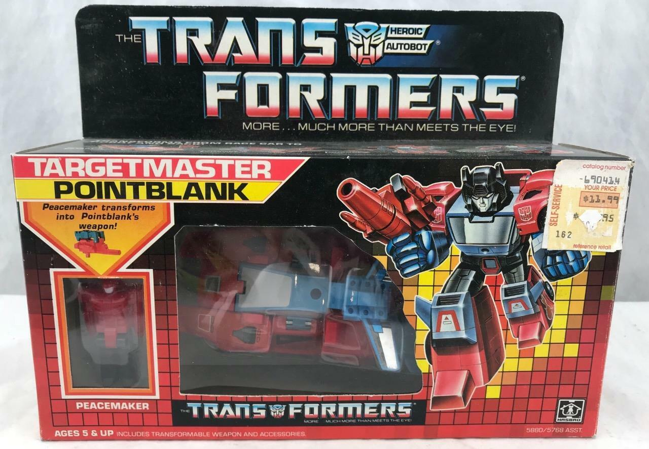 Transformers Original G1 1987 Targetmaster Pointblank Complete MIB