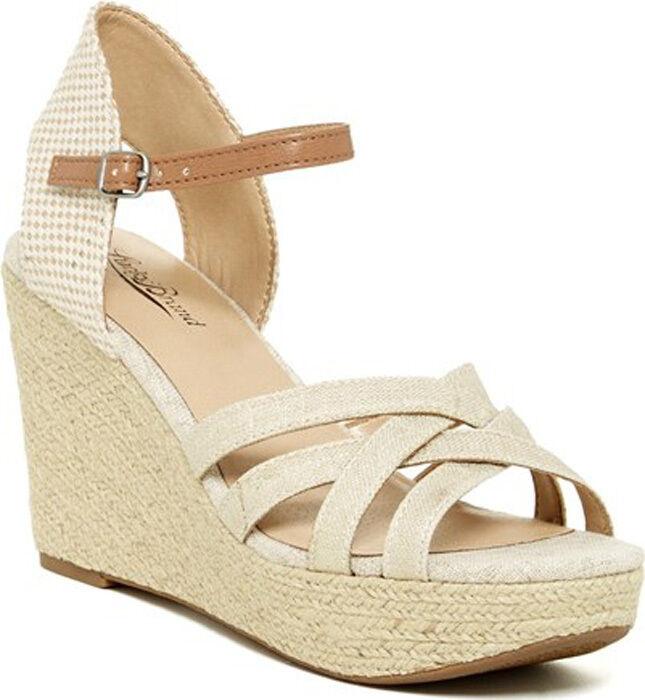 New Lucky Brand Mahima pltnm   Wedge heel women's sandals shoes