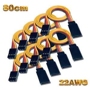 80cm 22AWG Servokabel Servo Kabel Verlängerung JR Graupner Futaba Robbe 1 2 5 10