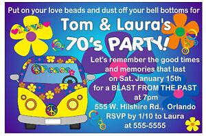 70s PARTY INVITATIONS eBay