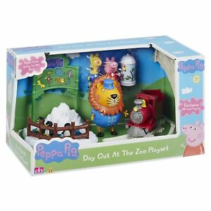 Peppa Pig Toy Day Out At The Zoo Playset Includes Track Train Animal Figure New 5029736066987 Ebay
